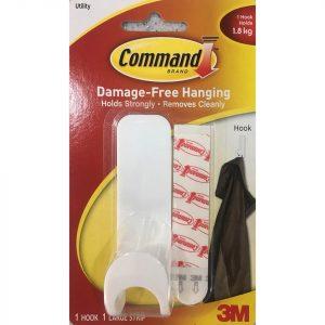 Móc Treo Tường Kiểu Tròn 1,8kg Command 3M